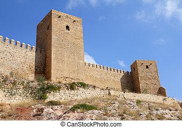 Alcazaba in Antequera - Antequera in Andalusia region of...