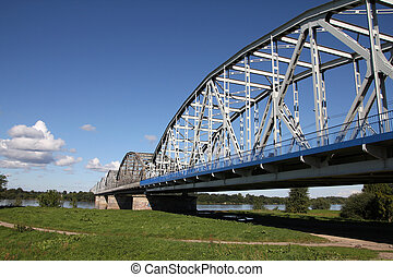 Road bridge - Poland - Grudziadz, famous truss bridge over...