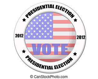 US presidential election button - US presidential election...