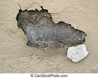 Pealing Paint - Paint pealing of plastered wall with cracks...