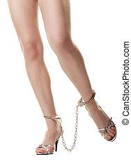 algemada, pernas, femininas