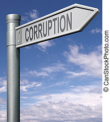 road to corruption bribe money, bank fraud or illegal...