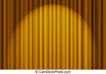 Gold Textured Background - A gold textured background, stage...