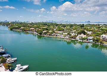 Indian Creek Canal in Miami Beach