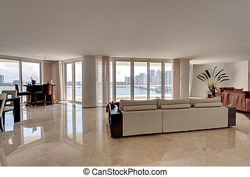 Apartment with Ocean View - Modern Living Room, overlooking...