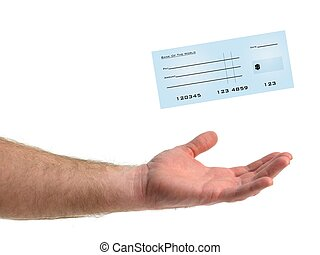Bank Check - An illustration of a blank bank check