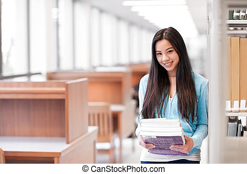 Asian college student - A portrait of an Asian college...
