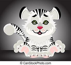 Lovely tiger toddler