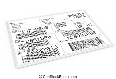 EDI Label with sample text and barcodes