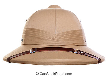 Pith helmet cut out - Photo of a pith helmet cut out on a...
