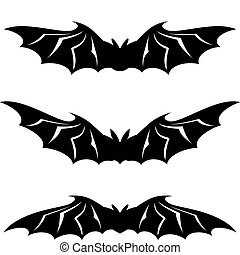 Bats illustration collection - vector on white background
