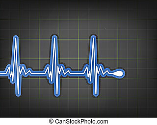ECG Electrocardiogram monitor EPS 8 vector file included