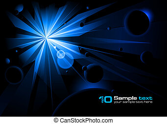 Big Starburst - Big blue Starburst. Vector illustration.