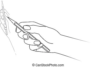 Hand drawing Vector illustration on white background
