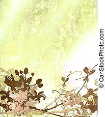 Elegant Flower Art Textured Background