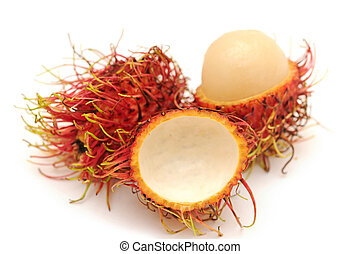 rambutan and one peel off rind