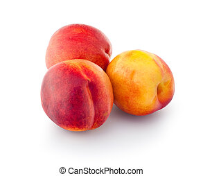 Nectarines - Juicy nectarines on a white background