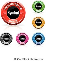 Web buttons - Color set of beautiful web buttons. Vector...