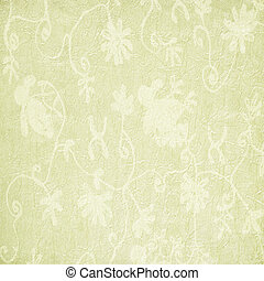 Pale Floral Pattern on Paper or Fabric Background