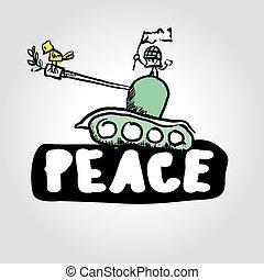 vector peace - ANTIWAR - symbols, concept