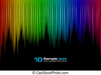 Sound waveform - Colorful Sound waveform editable vector on...
