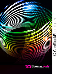 Vector abstract design - Abstract vector eps10 glowing...