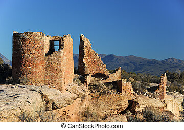 Hovenweep National monument - Native American towers ruins...