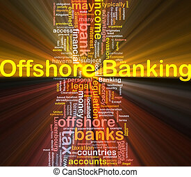 Offshore banking background concept glowing - Background...