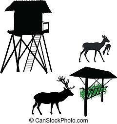 Lookout for hunters and feeder for animals
