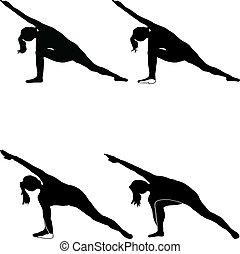 Yoga - utthitha-parivrtta