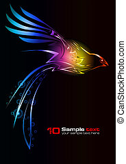 Vector abstract design Bird - Abstract vector eps10 glowing...