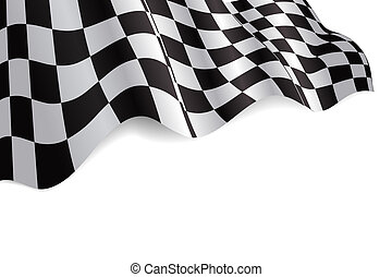 Checkered Flag - Checkered black and white flag background...