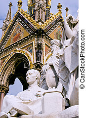 Albert memorial - Part of Albert memorial in London, taken...