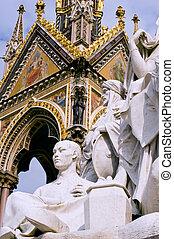 Albert memorial - Part of Albert memorial in London, taken...