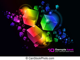 Vector abstract design - Abstract vector glowing background....