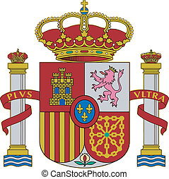 The arms of Spain on a white background