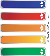 long colored buttons
