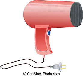 hairdryer on a white background