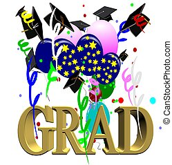 graduation day - grad day celebration graphic on white with...