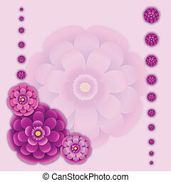 Floral background - Peony floral background. Vector...