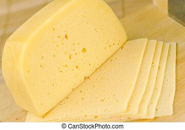 pedaço, queijo