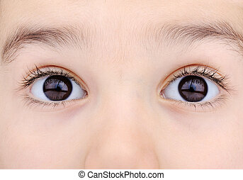 macro shot of childs eyes