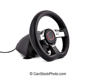 game steering wheel  on a white background