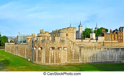Tower of London, in London, United Kingdom - a view of Tower...