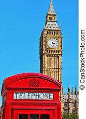 Big Ben, London, United Kingdom - a view of Big Ben and a...