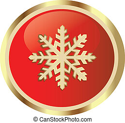 Snow Flakes - Snow flakes gold red  icon