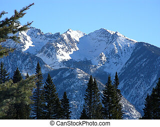 Roadblock - Treacherous mountain range at high elevation in...