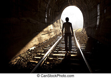 End of Tunnel - Exit from darknes - Light at end of tunnel