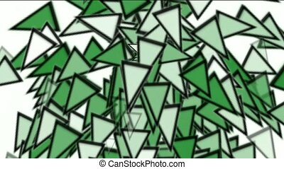 triangles card mosaics explosion falling,abstract math...