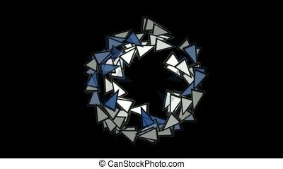 triangles card mosaics round